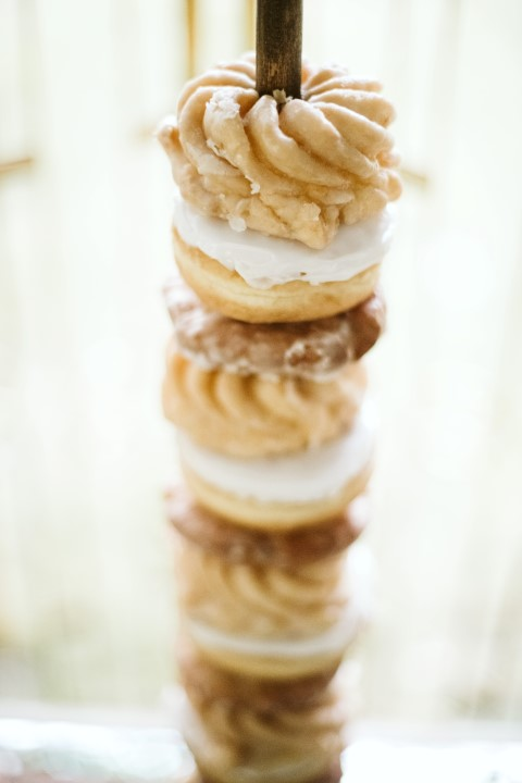 Donuts on a stick for wedding by Truffles Catering Vancouver Island