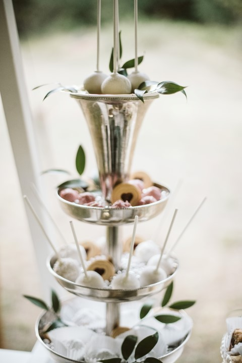 Silver platter filled with treats by Truffles Catering Vancouver Island