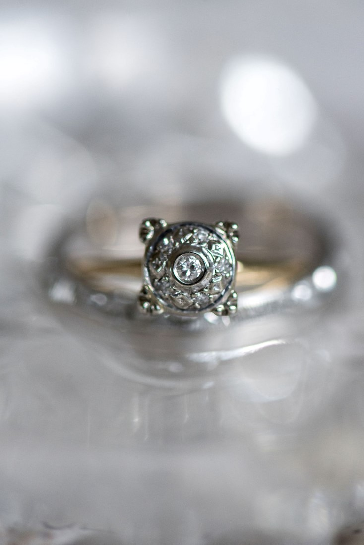 Diamond Ring setting by Janelle Dudzic Photography
