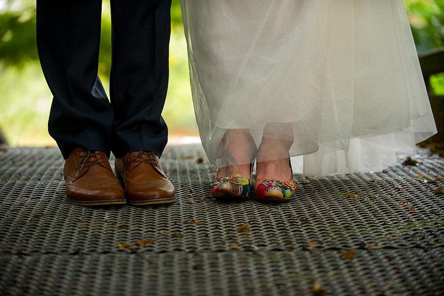 Newlyweds wearing John Fluevog shoes Vancouver