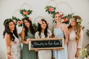DIY Floral Crown Workshop Bridal Shower by Amber Leigh Photography