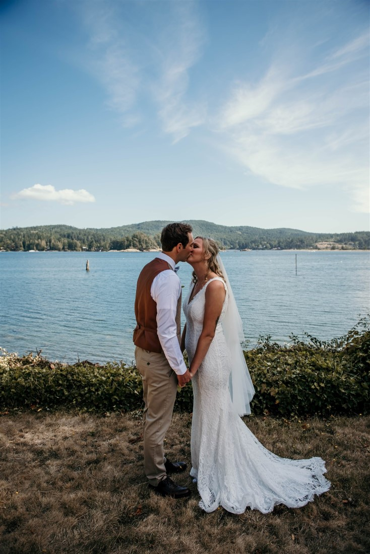 First Look Kiss by Coastline Living Photography
