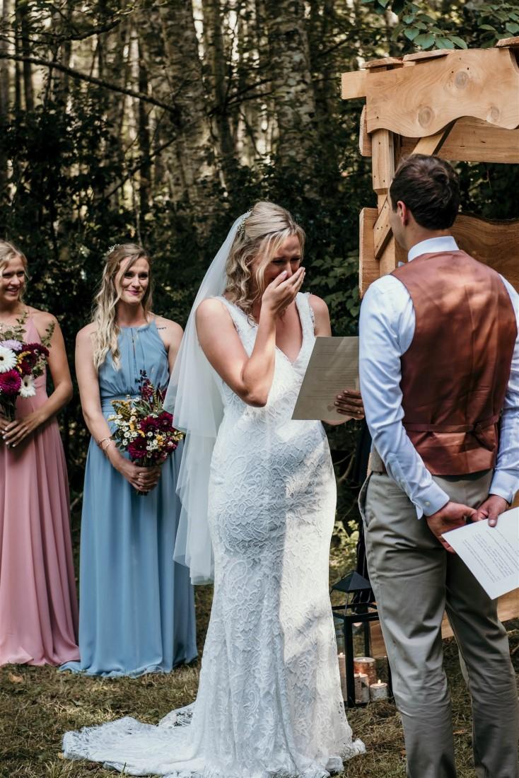 Social Distance Wedding Ceremony on Vancouver Island Farm
