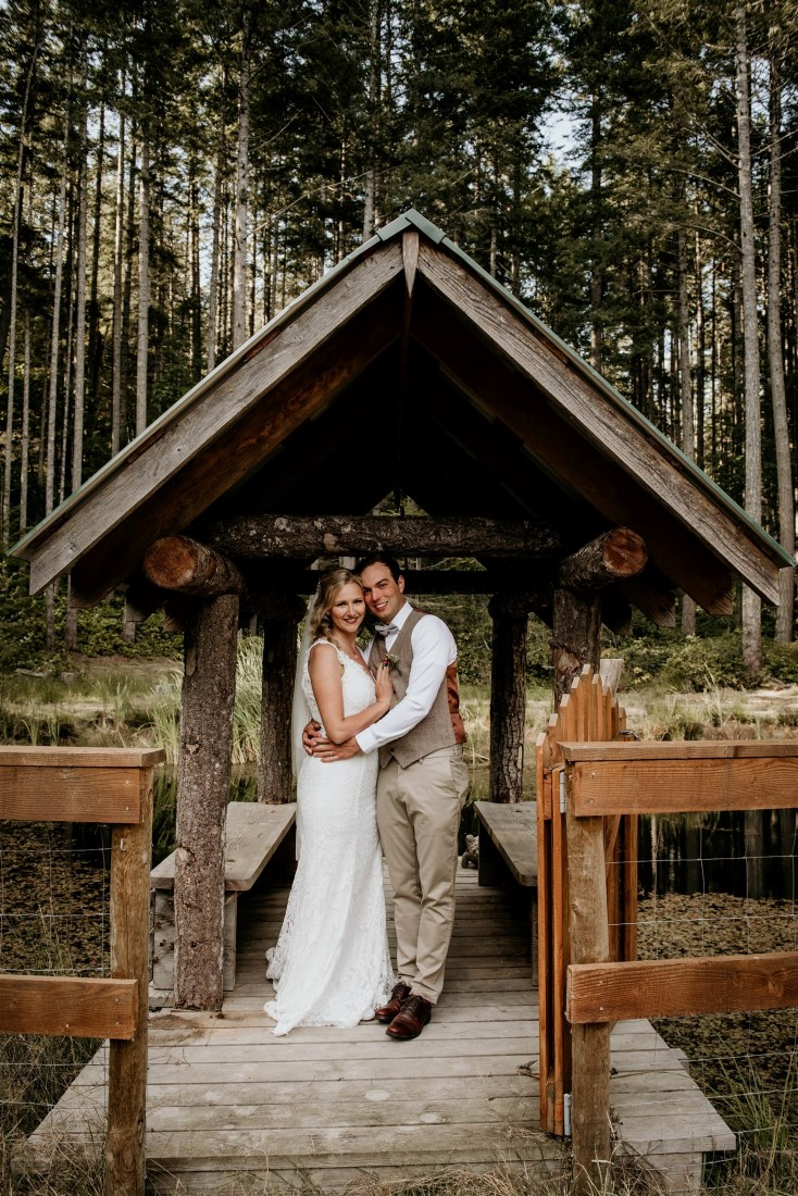 Wood Ceremony Arch for Wedding Ceremony on Vancouver Island