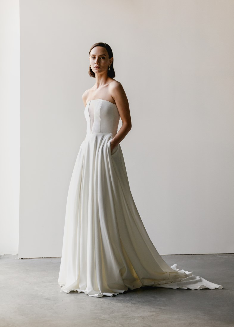 Aesling Modern wedding dresses, designed and made in Vancouver, BC