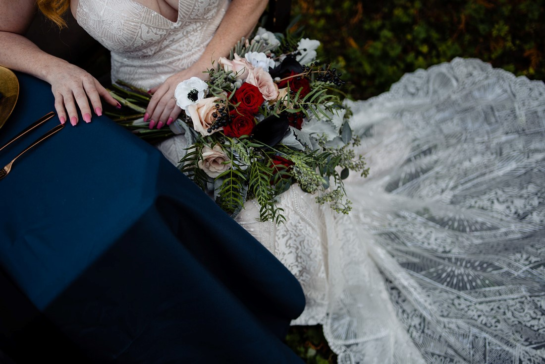 Bridal Gown of lace by Funkscway Bridal Vancouver