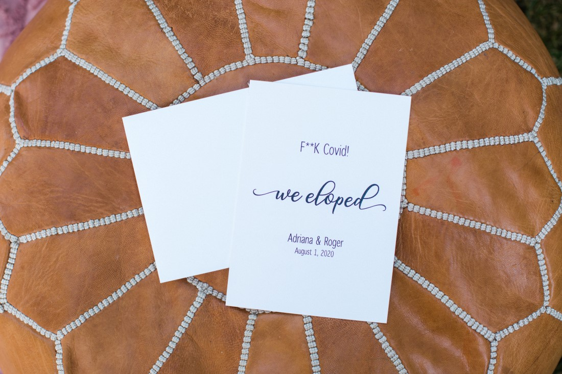 Covid Wedding Announcement We Eloped