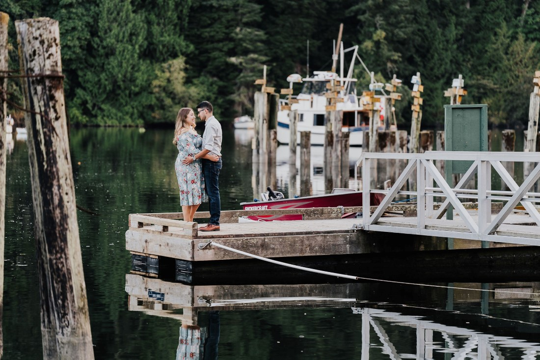 Romantic Couple Kiss at Engagement Session by Miko Weddings