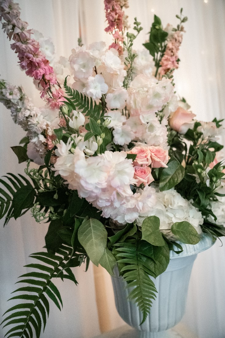 Wedding Reception Table Floral by Jennings Florist Vancouver Island