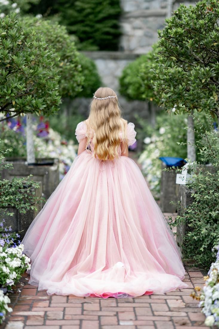 Bride wearing Pronovias Wedding Gown at Hatley Castle