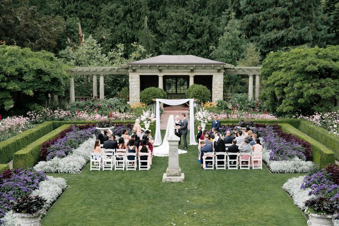 Garden Ceremony at Hatley Castle Vancouver Island