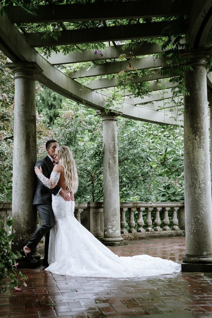 Castle Garden Wedding Veranda at Hatley Castle Vancouver Island