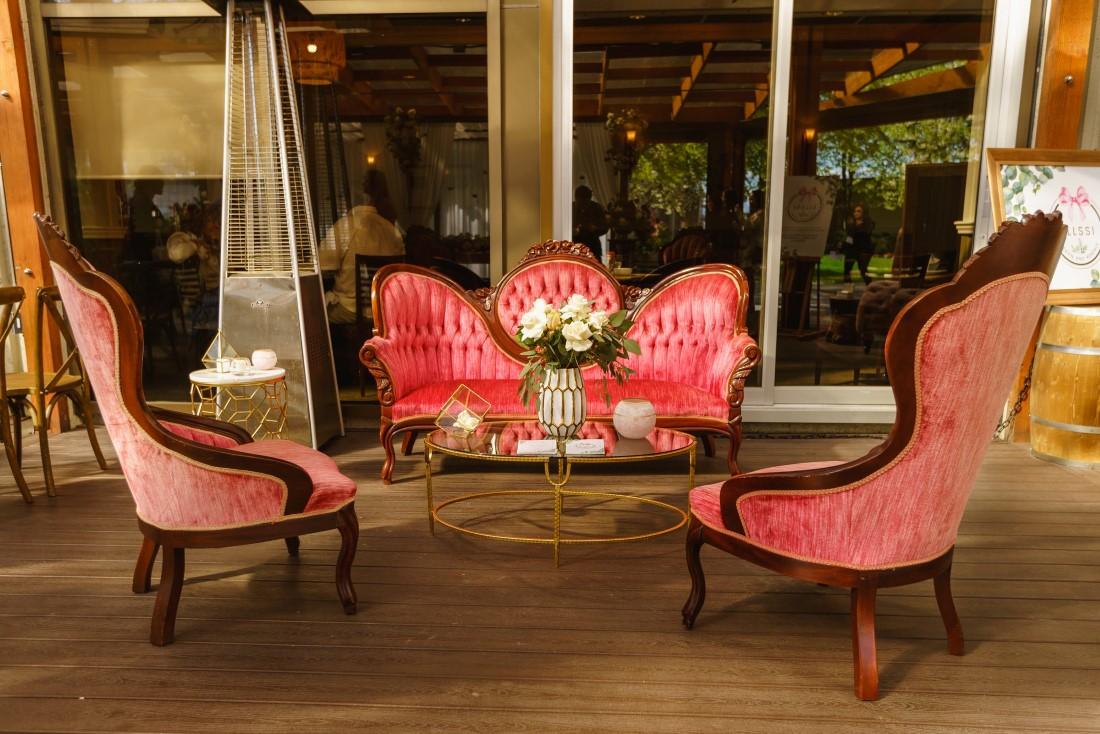 Blossom Pink Lounge at Veranda Wedding in Vancover