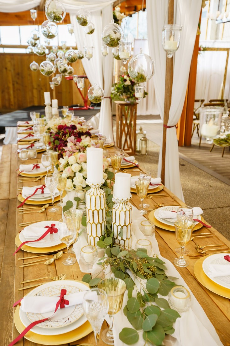 Gateway Pacific Veranda Wedding Table with White Curtains