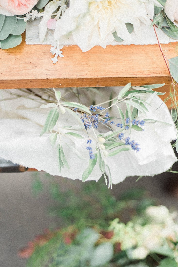 French Country Sweetheart Table floral decor