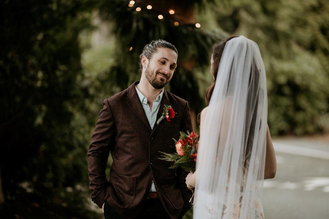 Forest Wedding Ceremony at Wick Inn Tofino