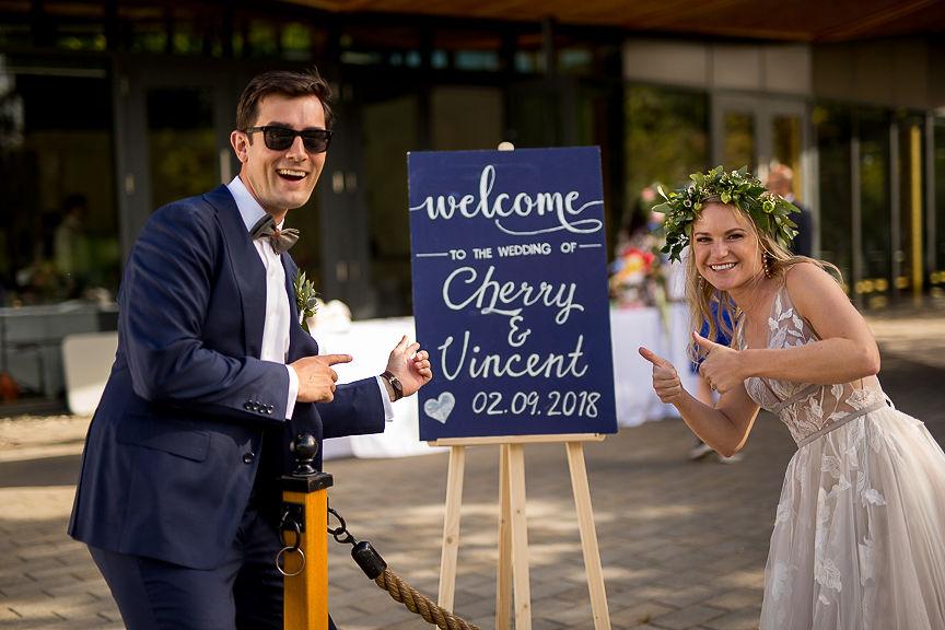 Romantic Wedding Day at Van Dusen Botanical Gardens
