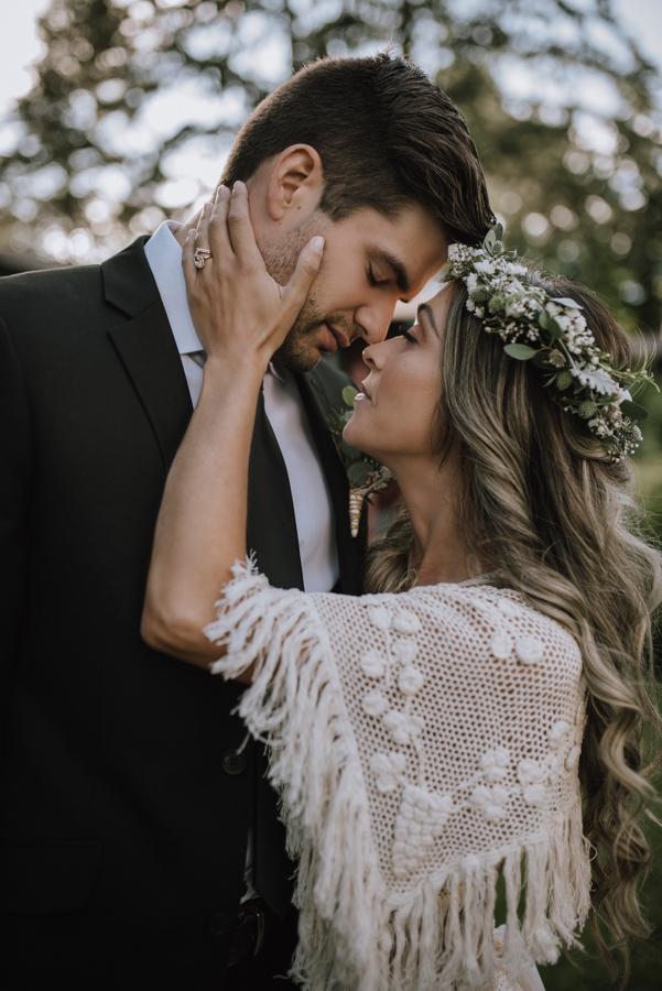 Dolphin's Resort Wedding Romance newlyweds kiss by Gal Eye Photography