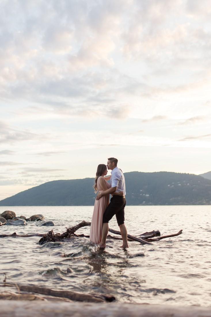 Engagement Shoot along Vancouver beach