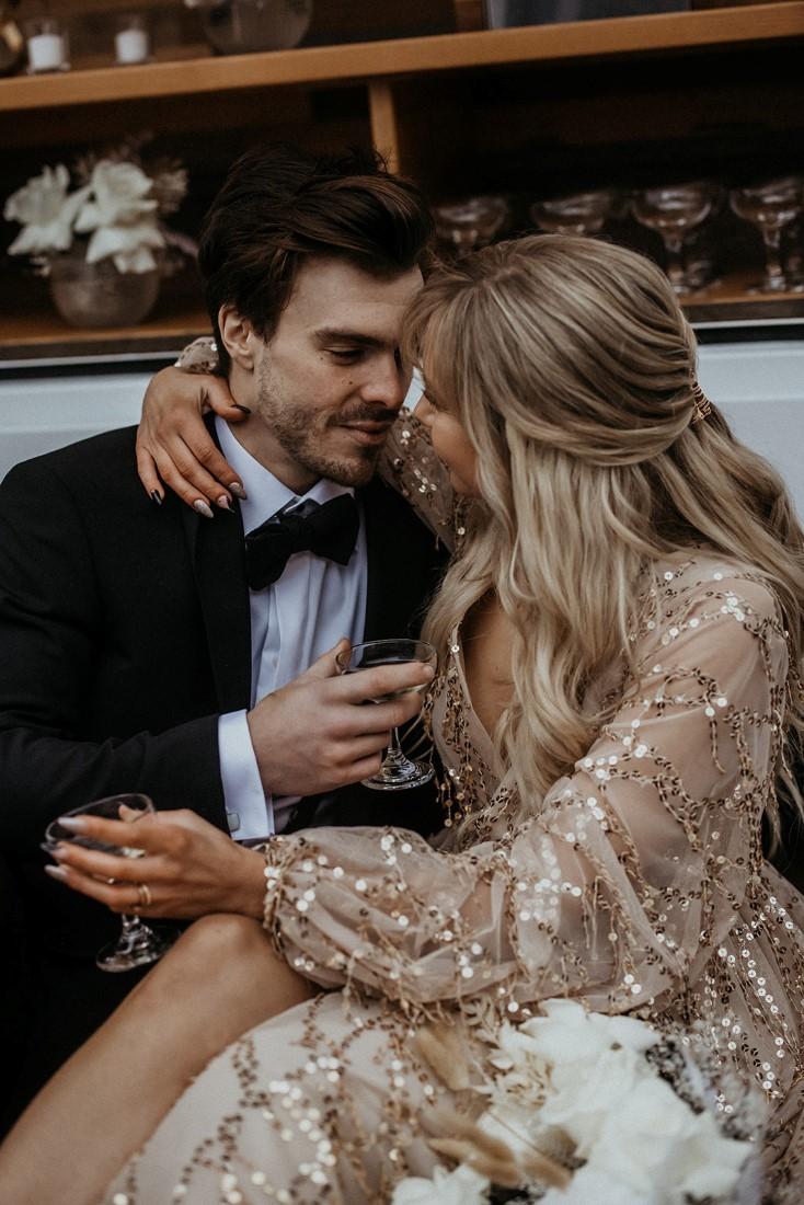 Romance & Champagne Kisses couple by Secret Waters Photo Vancouver Island