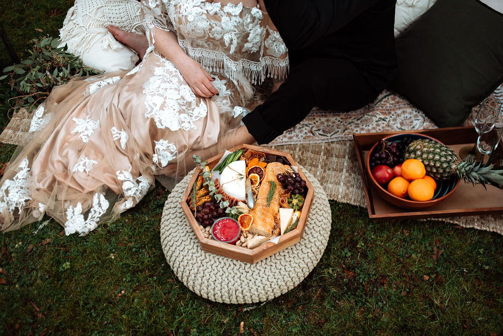 Charcuterie picnic for Vancouver Island newlyweds