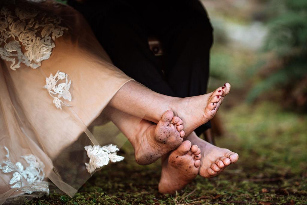 Bridal sandals by Allison Dawn Photography