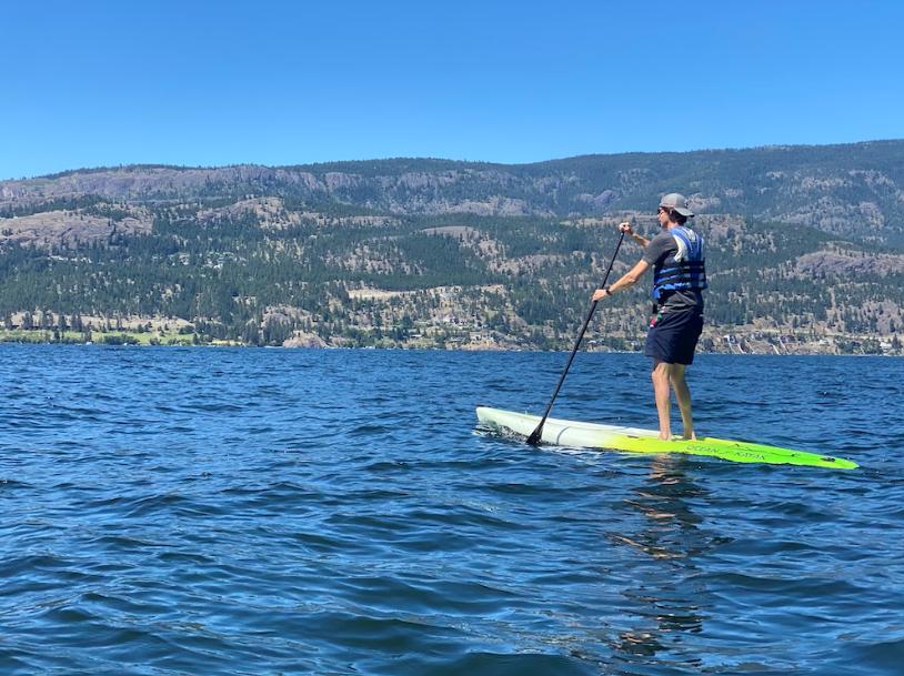 Kayaking on Okanagan Lake