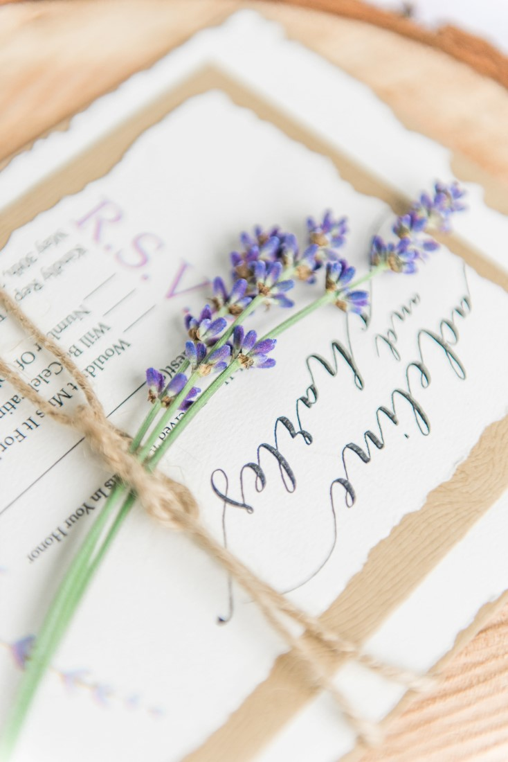 Lavener Themed Paper Suite by Living the Dream Weddings Vancouver
