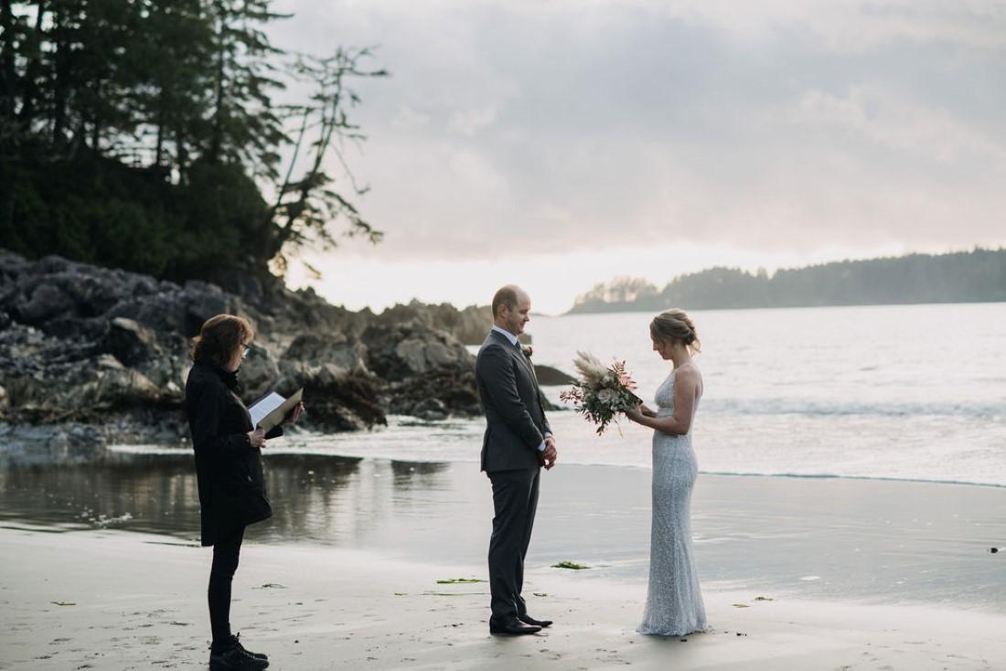 Tofino Beach Wedding ceremony by Bracey Photography