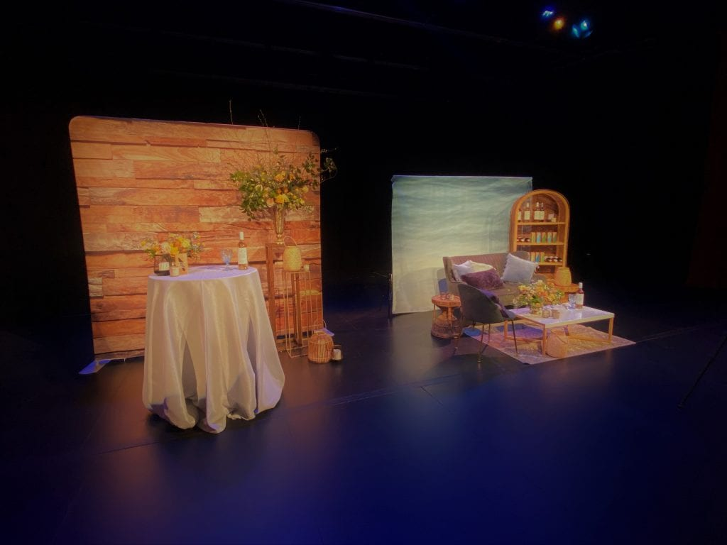 Stage Set Up for 2020 Vancouver Island Wedding Awards Live Stream at Mary Winspear Centre