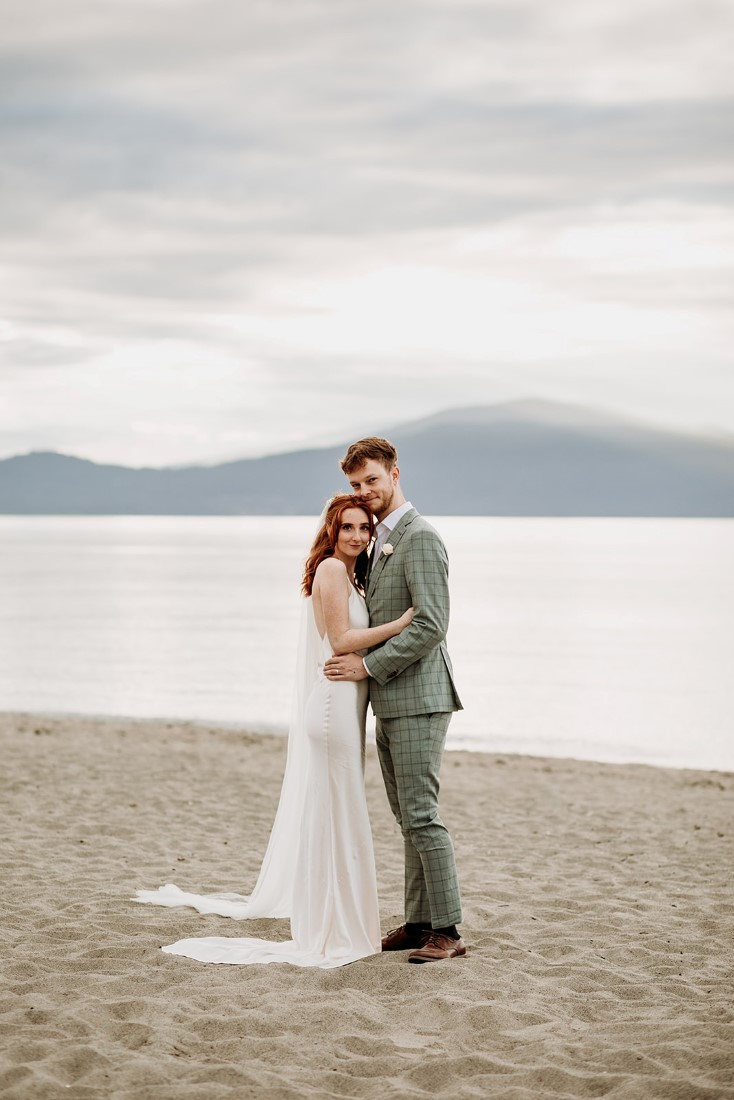 Newlyweds wearing Park and Fifth and Indochino from Vancouver