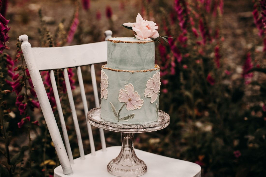 Foxgloves are Forever Island Moments Photography close up of wedding cake