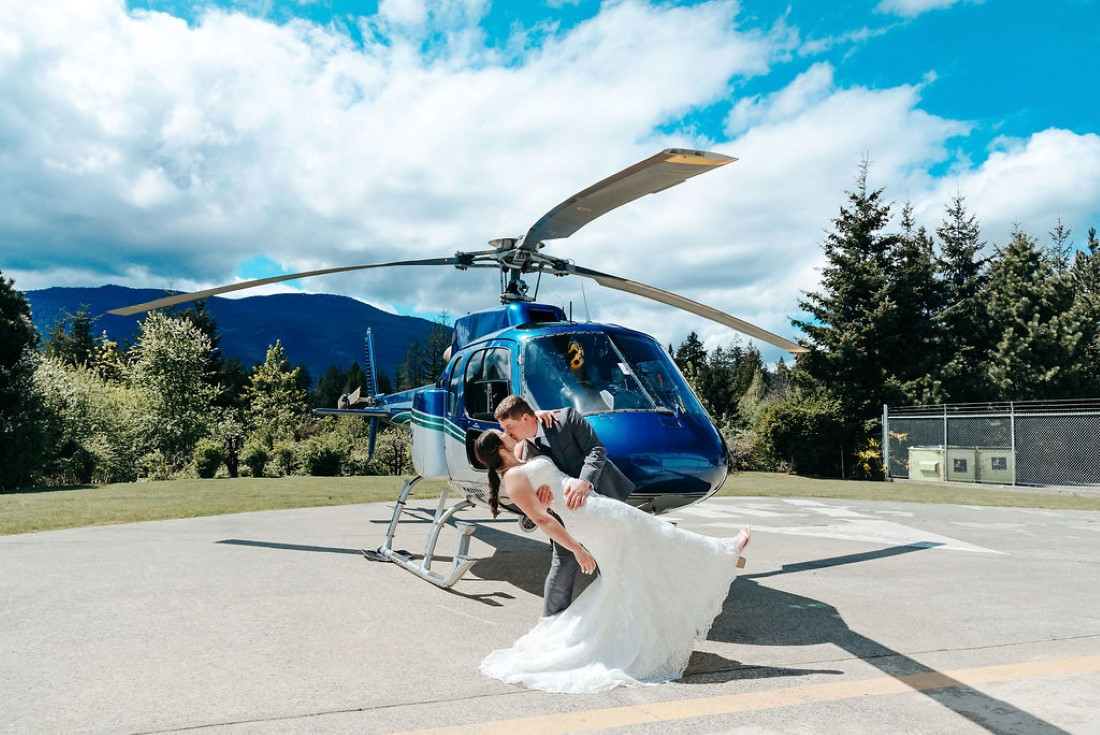 Wedding From Above Janayh Wright Photography lean back kiss