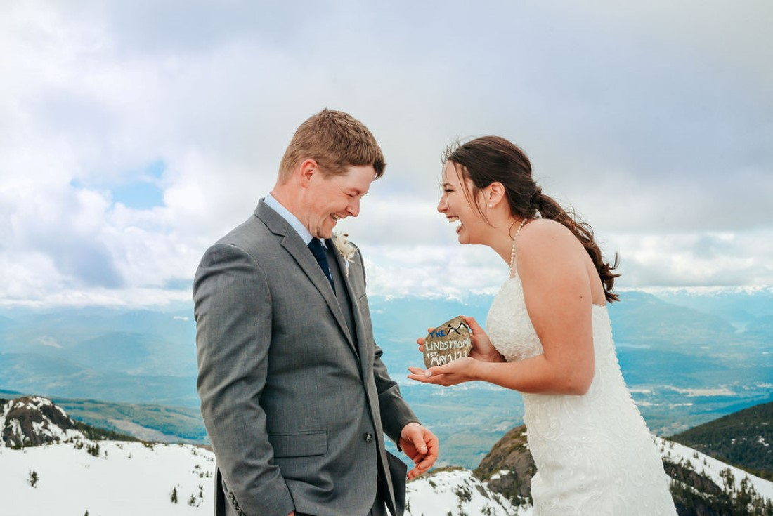 Wedding From Above Janayh Wright Photography couple shares a laugh