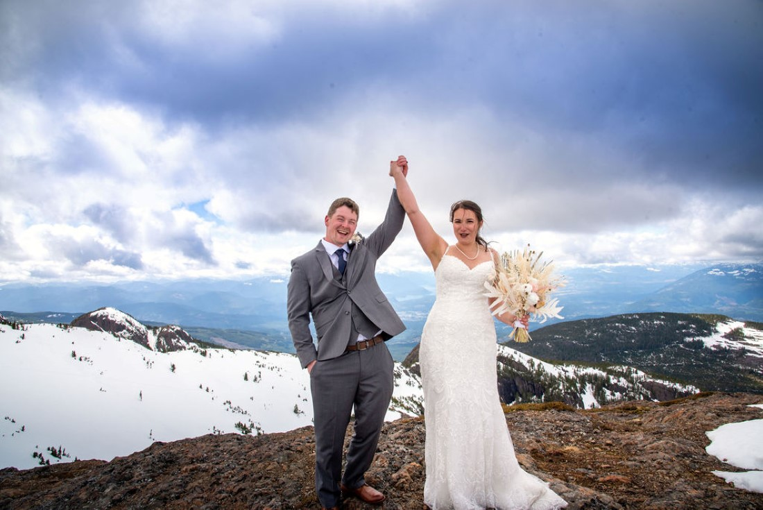 Wedding From Above Janayh Wright Photography bride and groom hold up hands
