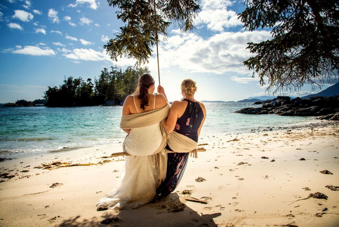 Wedding From Above Janayh Wright Photography beach swing