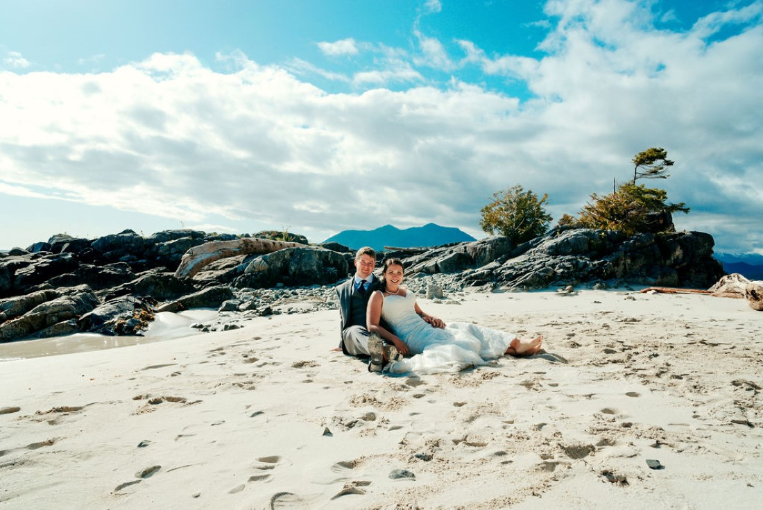 Wedding From Above Janayh Wright Photography couple sitting on sandy beach