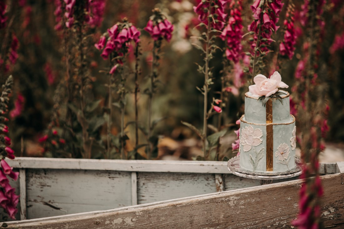 Foxgloves are Forever Island Moments Photography closeup of cake on boat