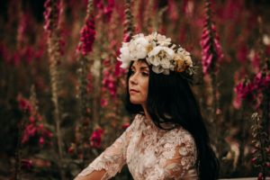 Foxgloves are Forever Island Moments Photography closeup of lower headpiece