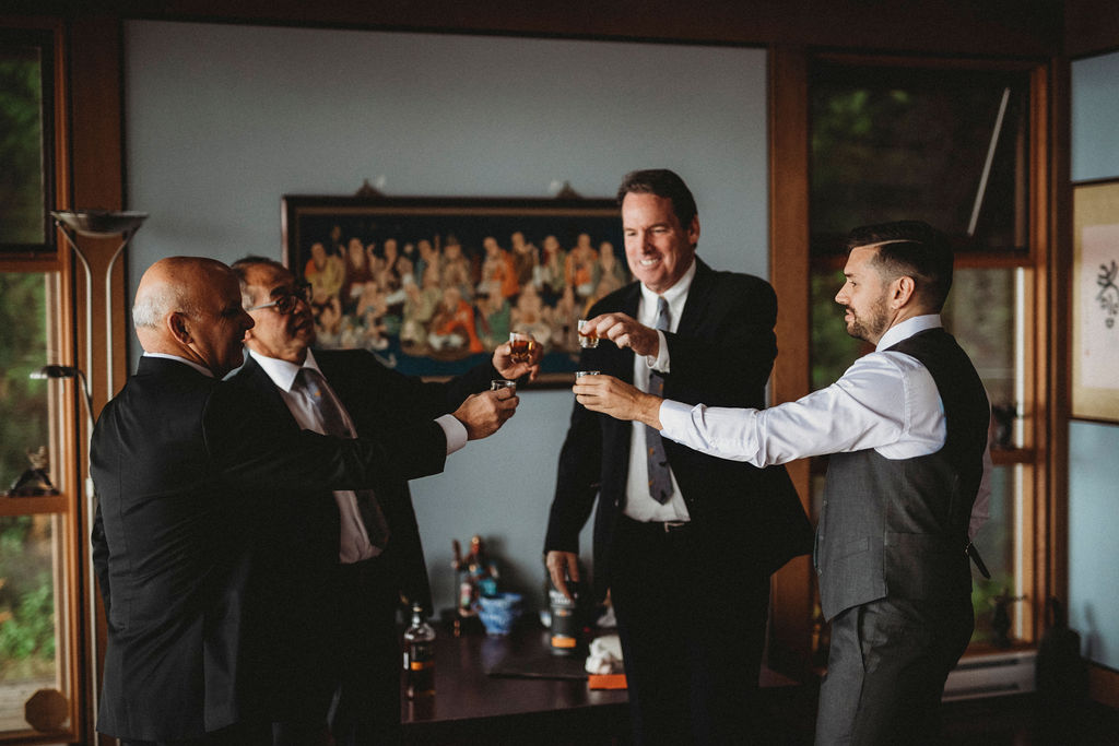 Changing Plans Anastasia Photography groom and groomsmen cheers