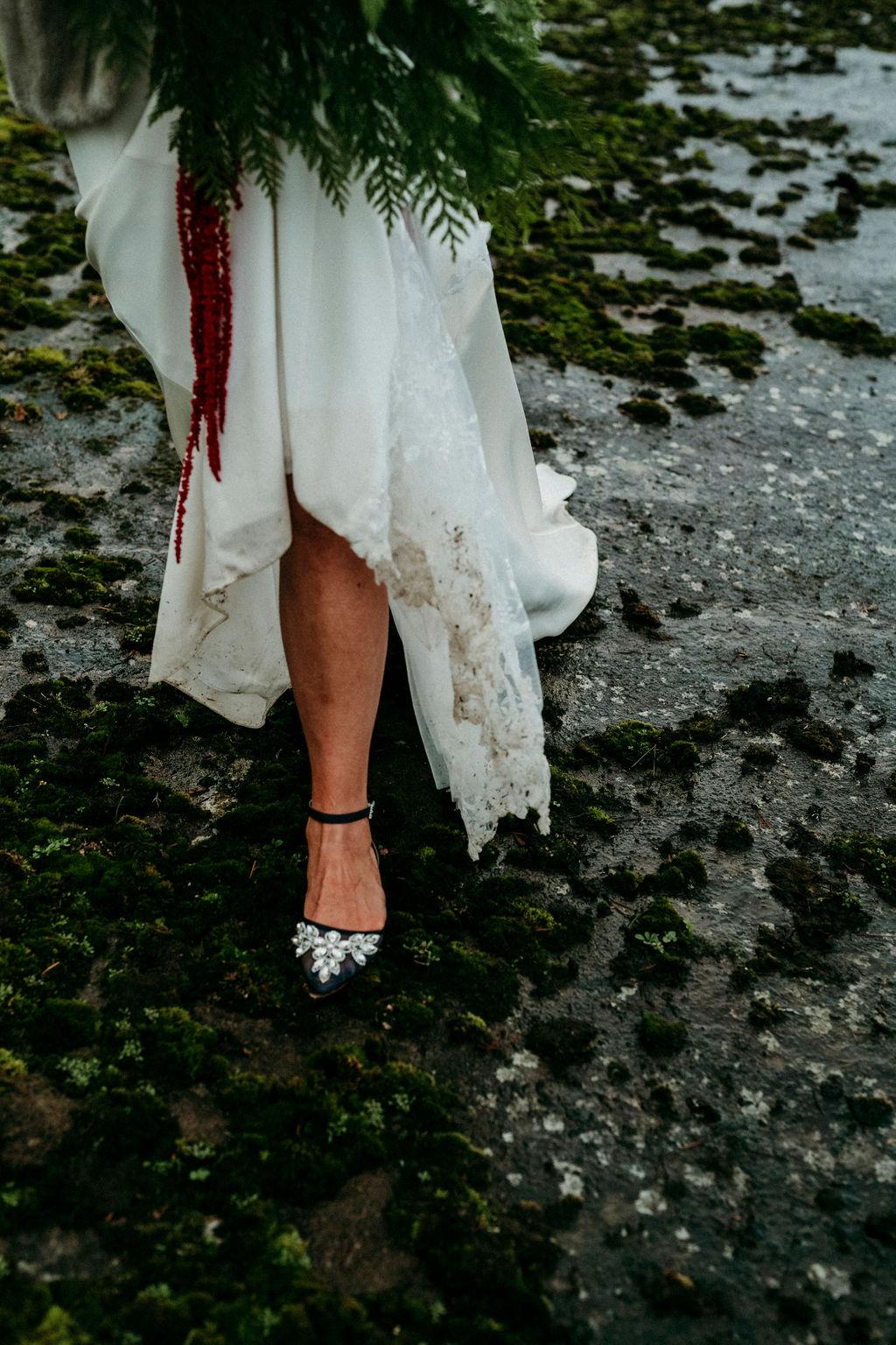 Changing Plans Anastasia Photography wedding shoes