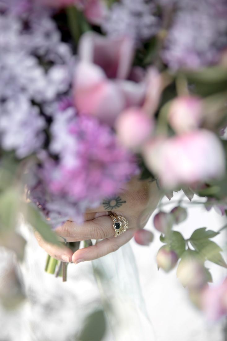 Purple Lilac Spring Wedding Hattie Root Photo Brides rings