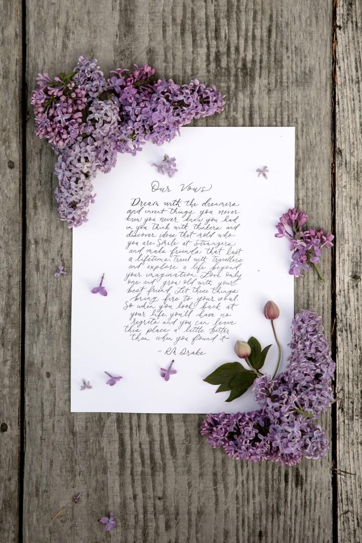 Purple Lilac Spring Wedding Hattie Root Photo vows