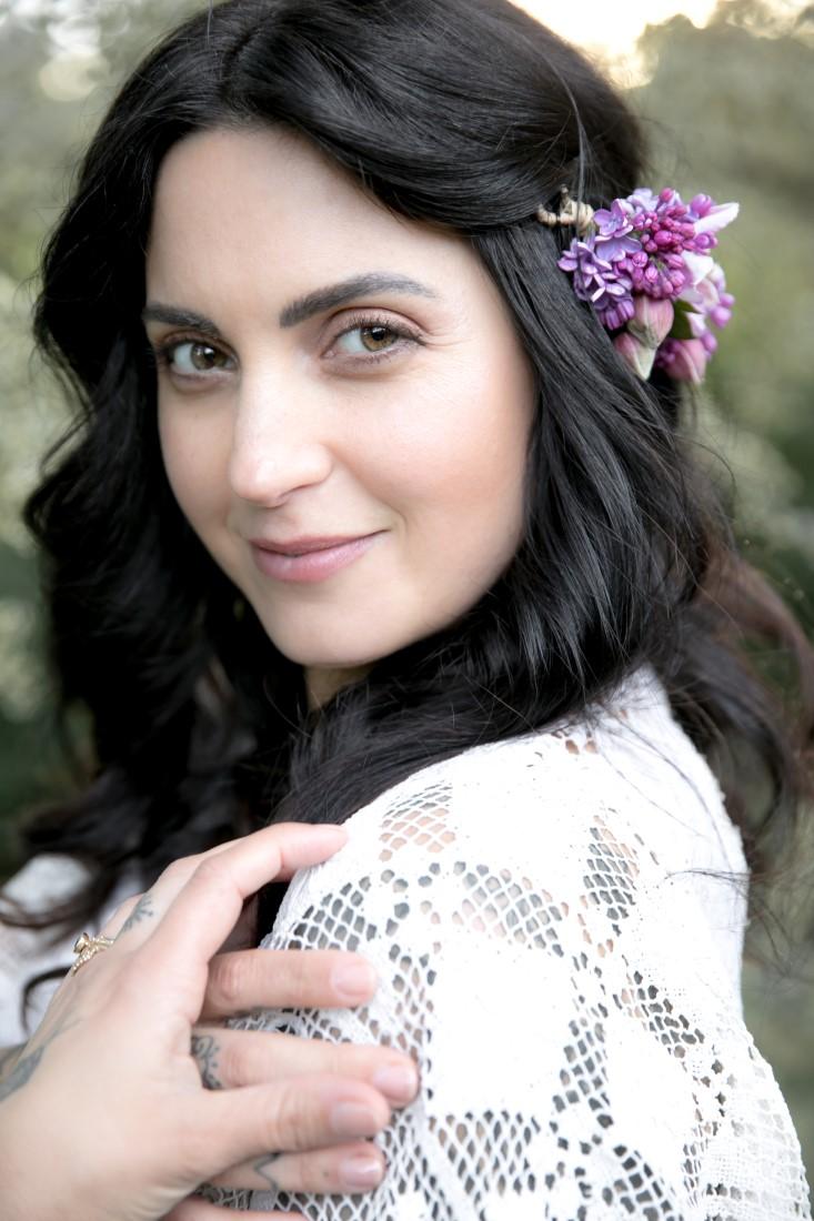 Purple Lilac Spring Wedding Hattie Root Photo Bride