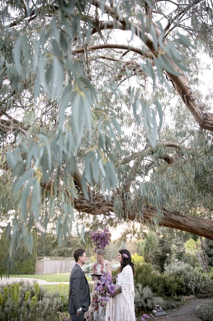 Purple Lilac Spring Wedding Hattie Root Photo Elopement Ceremony