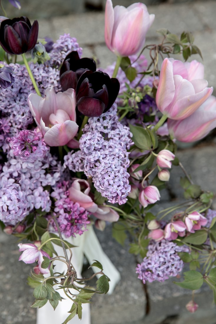 Purple Lilac Spring Wedding Hattie Root Photo lilacs and tulips bouquet
