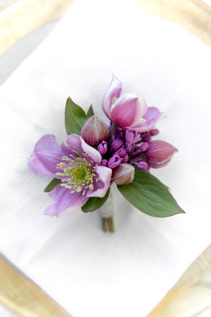 Purple Lilac Spring Wedding Hattie Root Photo boutonniere