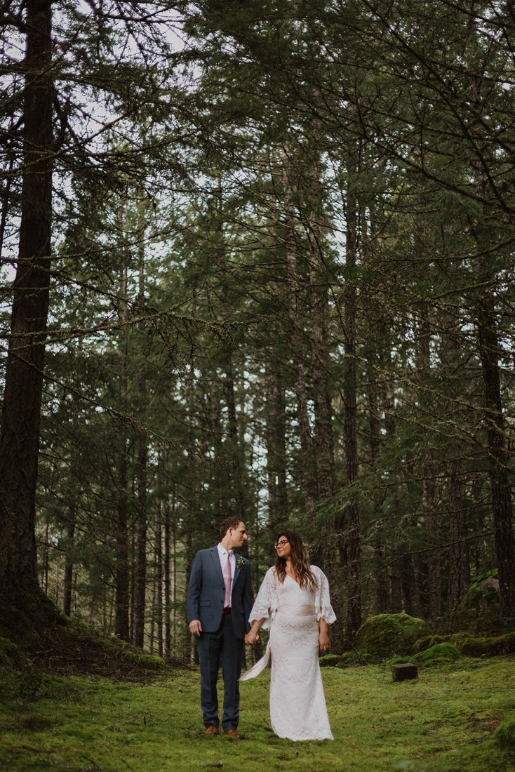 Sophisticated Gallery Kacie McColm Photography bride and groom forest