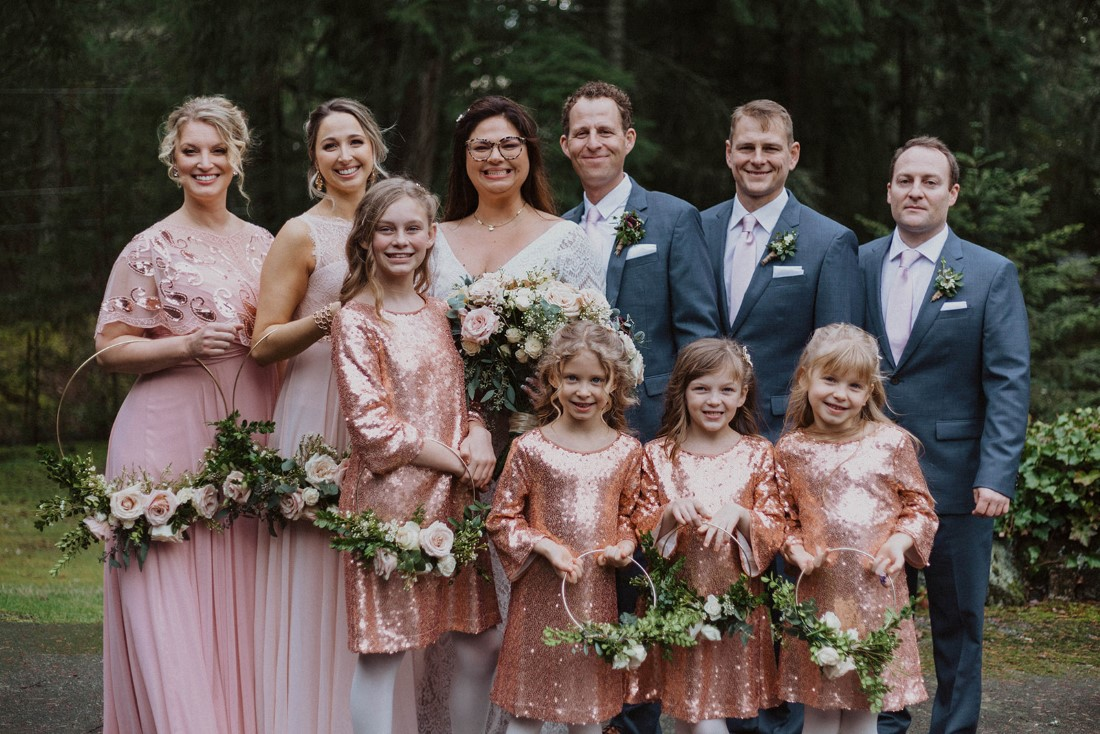 Sophisticated Gallery Kacie McColm Photography wedding party floral hoops