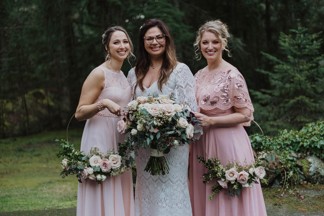 Sophisticated Gallery Kacie McColm Photography bride with maids and floral hoops